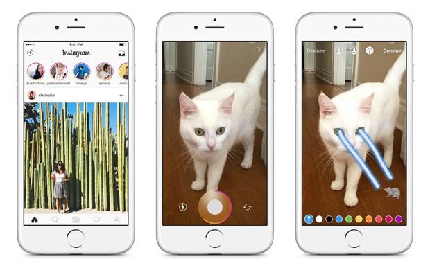 nova atualização instagram ganha 'modo história' similar ao snapchat